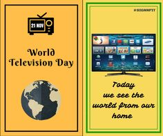 see the world from you home  #world television day