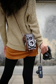 Which one would you like to take ?, via Flickr.    #camera #photographer #female