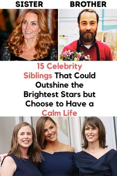 15 Celebrity Siblings That Could Outshine the Brightest Stars but Choose to Have a Calm Life Top 10 Actors, Celebrity Siblings, Avengers 2, Bright Stars, Actor Model, Celebs, Celebrities, Real Life, Fun Facts