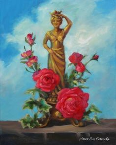 A Woman's Place (is on a pedestal) | Sue Cervenka Paintings