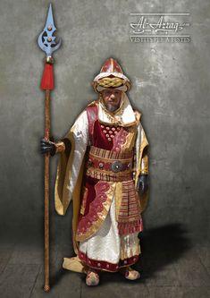 Traje de estilo árabe medieval