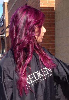 Violet magenta hair