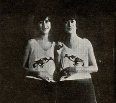 Mary and Anna were conjoined twins born in Honduras in 1907.  They were joined by a thin band at their abdomen.   They exhibited with Sells-Floto and Norris and Rowe circuses for several years until 1929, when one sister fell ill.  They returned to Honduras where both twins died shortly after.