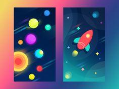 Free Space Wallpapers by Ludmila Shevchenko for Tubik Studio