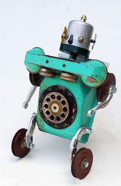 Mobile phone man by Lockwasher, via Flickr