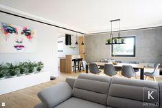 Salon połączony z jadalnią i otwartą kuchnią - zdjęcie od Katrilo Projektowanie wnętrz - Salon - Styl Nowoczesny - Katrilo Projektowanie wnętrz