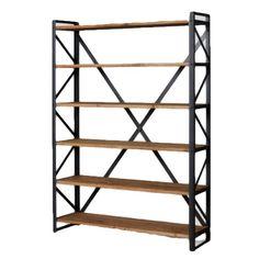 Een solide open opbergkast met 6 fraaie houten planken. De zware stalen dragers zorgen voor meer dan streving constructie en daarmee voor een product waar je jaren plezier van kunt hebben. Ideale opberger voor in de woonkamer, slaapkamer, maar ook op kantoor of voor de presentatie van producten in een een winkel. De combinatie van hout en staal zorgen voor een stoere vintage look. Elk exemplaar is hangemaakt en daardoor uniek! Nu te koop bij de Rebellenclub @ Loods 5.  Afmetingen: 143 x 200…