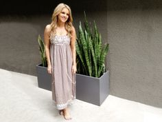 Theme Maxi Dress with Embroidery and Bead Detail from Ali Fedotowsky on OpenSky