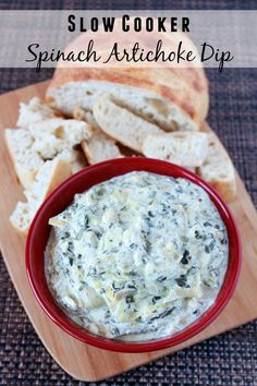 Super Bowl Appetizer Recipe - Slow Cooker Spinach And Artichoke Dip | The Rebel Chick