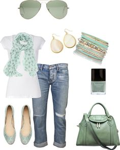 """Love Mint Green"" by meecht94 ❤ liked on Polyvore"