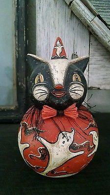 ORIGINAL Johanna Parker Halloween Cat Ooak