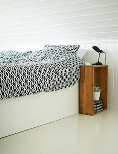 A Crate Placed With The Open Side Facing Away From The Bed Works Really  Well As