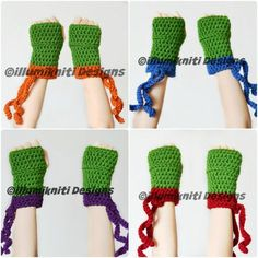Teenage Mutant Ninja Turtle Gloves Halloween Costume TMNT Cosplay for Fun for Kids and Adults - Made to Order