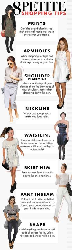 A few easy tips for the petite ladies in the house. #LadiesFashion