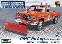 GMC Pickup w/Snow Plow Model Kit