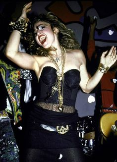 Madonna in performance, 1985