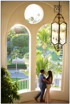 Beautiful couple on their engagement day at the Fairmont Kea Lani in Maui, Hawaii.  Photo by www.TadCraigPhotography.com