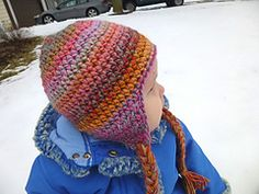 Love this basic hdc pattern... Ravelry: Seamless Earflap Hat pattern by Lindsey Carr