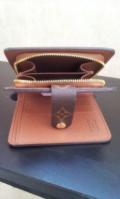Louis Vuitton Monogram Canvas Zipped Compact Wallet M61667. inner shoot. $109+FREE shipping+on-line payment