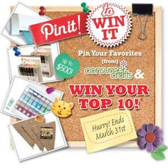 Pin It! to Win up to $500 in Free Craft Supplies