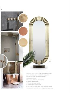 An accent of metal will give any bathroom a classy ambience
