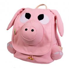 Let your little one carry their school books in a unique pig backpack. The bag is large enough to carry multiple books at once and they have wheels built into the bottom of them making it easy for children to carry their books back and forth to school. Cute Baby Pigs, Mini Pigs, Pet Pigs, This Little Piggy, Kids Bags, Kids Backpacks, Backpack Purse, Luggage Bags, Purses And Bags