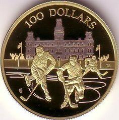 "Canada's Million Dollar Gold Coin | 100 Dollar Gold Coin Canada 2006 ""Longest International Hockey S ..."