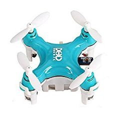 Go to  to review Smallest RC Quadcopter, Koiiko 3D Rollover Headless Mode DHD D1 Drone RTF Ready-To-Fly R/C Model Aircraft 6-Axis Gyro Helicopter with 2.4GHz Wireless Remote Control for Children Indoor Flying Gree