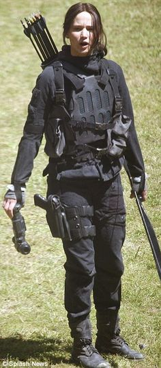 Tactical uniforms: Jennifer and Liam were decked out in combat gear and armed...