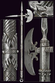 War axe, Provenance: France  Dimensions: length 99 cm.  Date: 16th Century.