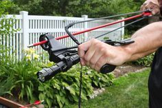 Sling bow archery is shooting an arrow with a slingshot! Learn how it works and find out how similar it is to traditional archery! Survival Weapons, Survival Tools, Camping Survival, Outdoor Survival, Survival Prepping, Wilderness Survival, Survival Quotes, Zombie Survival Gear, Survival Rifle