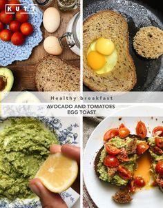 Avocado and tomatoes egg toast Egg Toast, Sunday Brunch, Avocado Toast, Tomatoes, Deserts, Eggs, Healthy Recipes, Homemade, Dinner