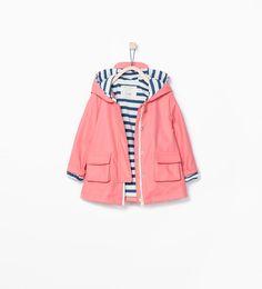 Peaked hood raincoat-Jackets-Baby girl (3 months - 3 years)-KIDS | ZARA United States