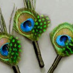 Peacock boutonnière