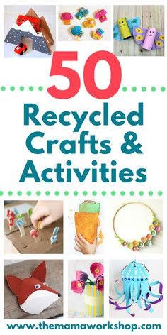 Earth Day is coming up! So, we gathered a list of 50 Earth Day Crafts Using Recycled Materials to do! They're so fun! It also includes activities! Earth Day or any day will surely be a hit. So, save up those recycled materials! Upcycled Crafts, Crafts From Recycled Materials, Recycled Art Projects, Recycled Crafts For Kids, Recycling Projects For Kids, 3d Projects, Earth Day Activities, Craft Activities, Preschool Crafts