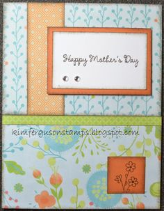 Kim Ferguson's Crafting Blog - Rubber Stamping and Scrapbooking: Mother's Day Card #1 - 2015