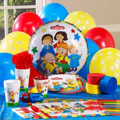 Wow! Now that's a party!  Caillou Personalized Party Theme from BirthdayExpress.com
