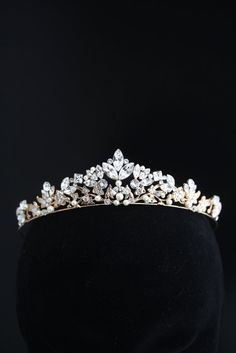 Wedding Crown Rose Gold Bridal Tiara By Lulusplendor