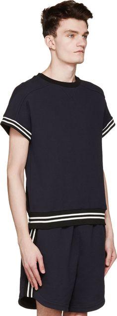 Giuliano Fujiwara: Navy D.A.T.E. Edition Short Sleeve Sweatshirt
