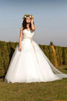 cuore ricami abiti da sposa Angel