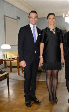 Queens & Princesses - Dinner at the Embassy of Sweden.. Crown Princess Victoria of Sweden and Prince Daniel