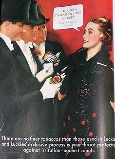 Luckies Cigarettes Vintage Ad