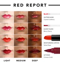 Find the best e.l.f. red for YOUR skin tone with the Red Report!