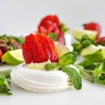 The perfect warm weather dessert, these Key Lime Meringue Nests are vanilla meringues filled with decadent white chocolate key lime ganache and fresh fruit.