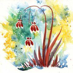 ©Lezley Davidson, Hanging Umbrella Flowers, 2013, 8 x 8, mixed media