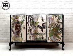Stunning Professionally Upcycled Vintage Sideboard TV Unit Timorous Beasties  | eBay