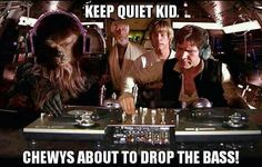 @Greg Estrada obviously had the cantina band, but always played the same song. Someone needed to make beats in the galaxy. Why not chewy?