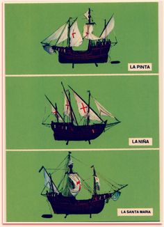 These were the three ships that were used in christopher - Zara home huelva ...