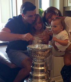 Nothing is better than the Stanley Cup and family. Marc-Andre Fleury chose to spend his day with Lord Stanley in Quebec with his wife and children.