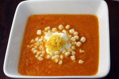 Carrot, ginger and lemon soup. Try this, it doesn't disappoint.  I subbed the butter with goat's milk butter once, and it was even more flavorful.